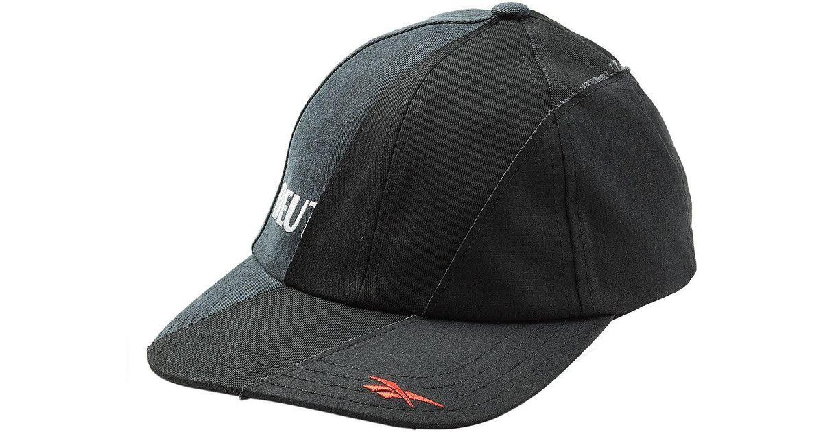 b5d129ece65 Vetements X Reebok Reworked Baseball Cap in Black for Men - Lyst