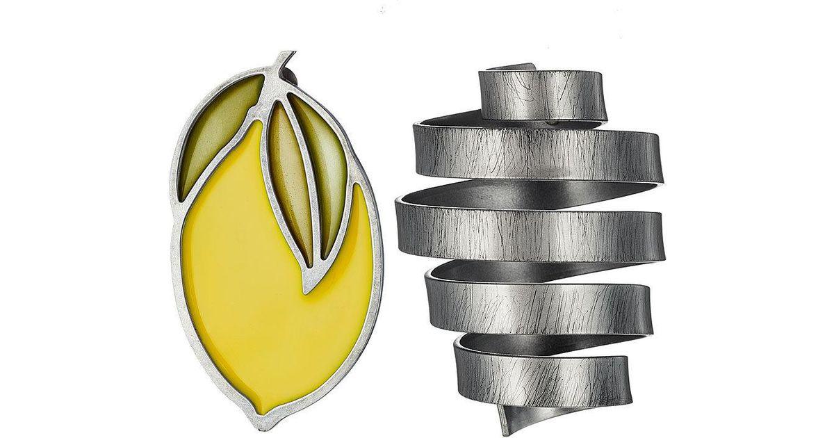 Le Citron lemon and spiral earrings Jacquemus 1dI6w3z
