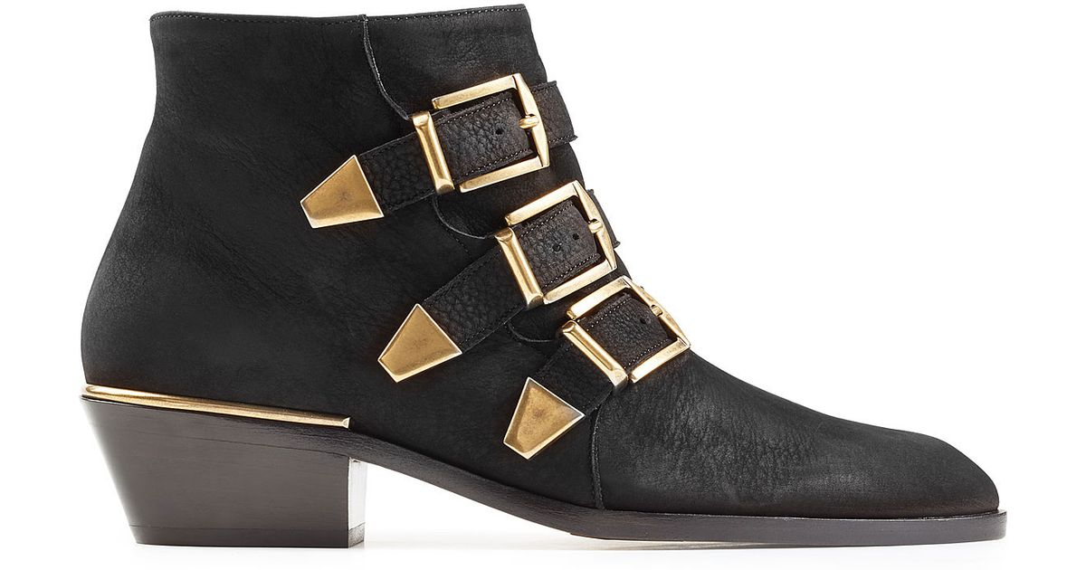 Lucy Quilted Leather Ankle Boot