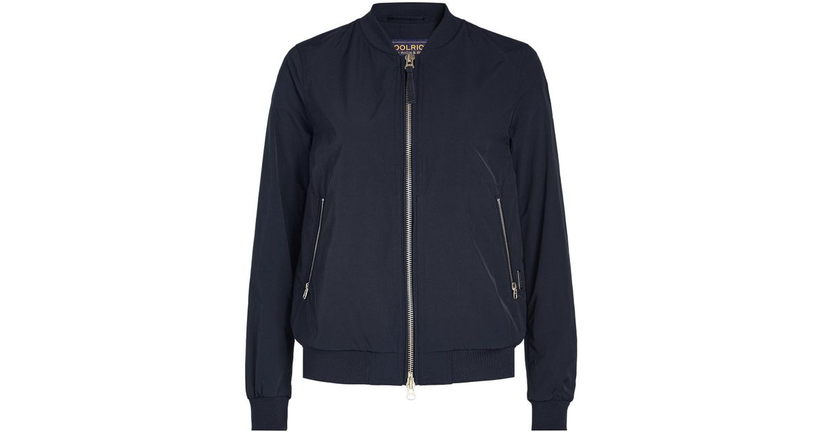 0d438fc4a926 Woolrich Charlotte Bomber Jacket in Blue - Lyst