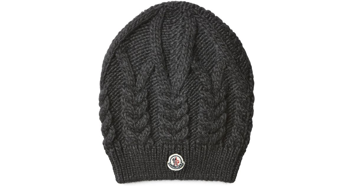 4389ed13e Moncler Hat With Wool And Alpaca in Gray - Lyst