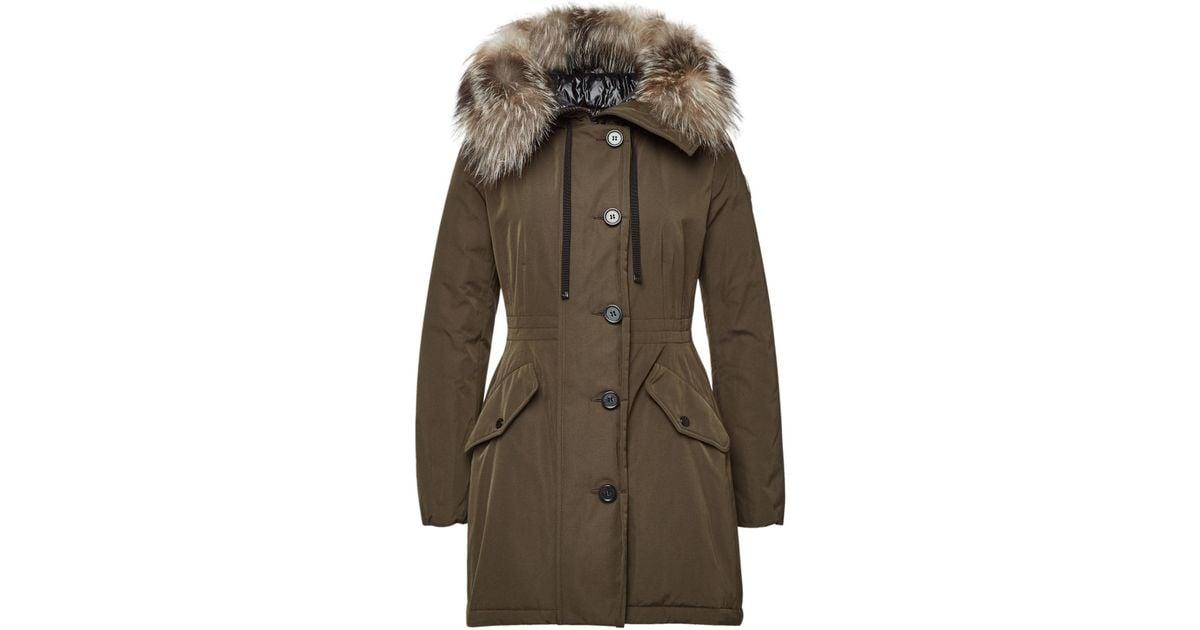 700fe117c Moncler - Multicolor Monticole Down Parka With Fur-trimmed Hood - Lyst