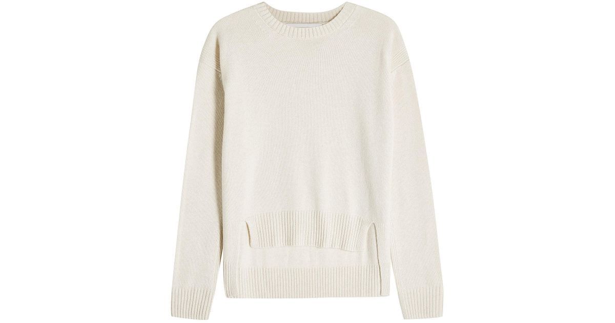 ce2037c60a97e9 Lyst - Rosetta Getty Cashmere Pullover With High-low Hem