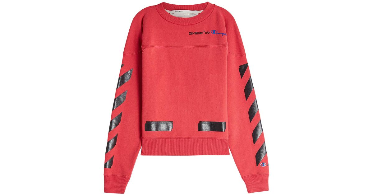 facd7ee054e5 Lyst - Off-White c o Virgil Abloh X Champion Printed Cotton Sweatshirt for  Men