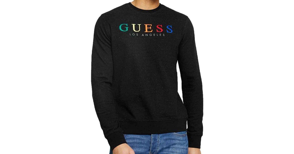 c59528299 Guess Mens Jed Logo Crewneck Sweatshirt in Black for Men - Lyst