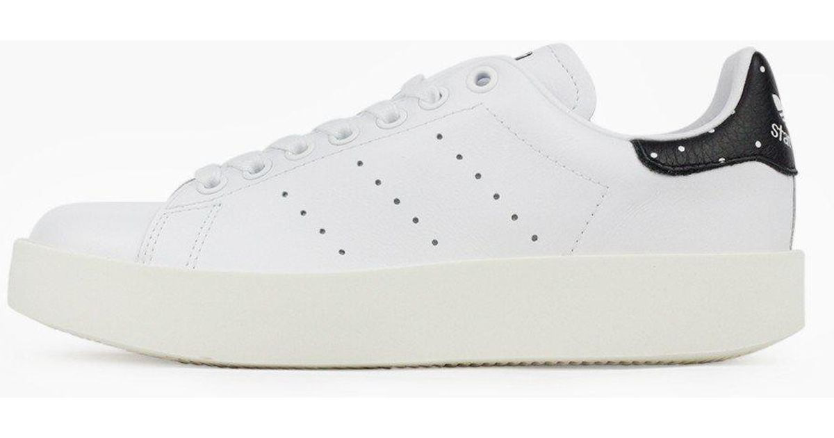 8bd3ace70e9de Lyst - adidas Originals Stan Smith Bold Women in White