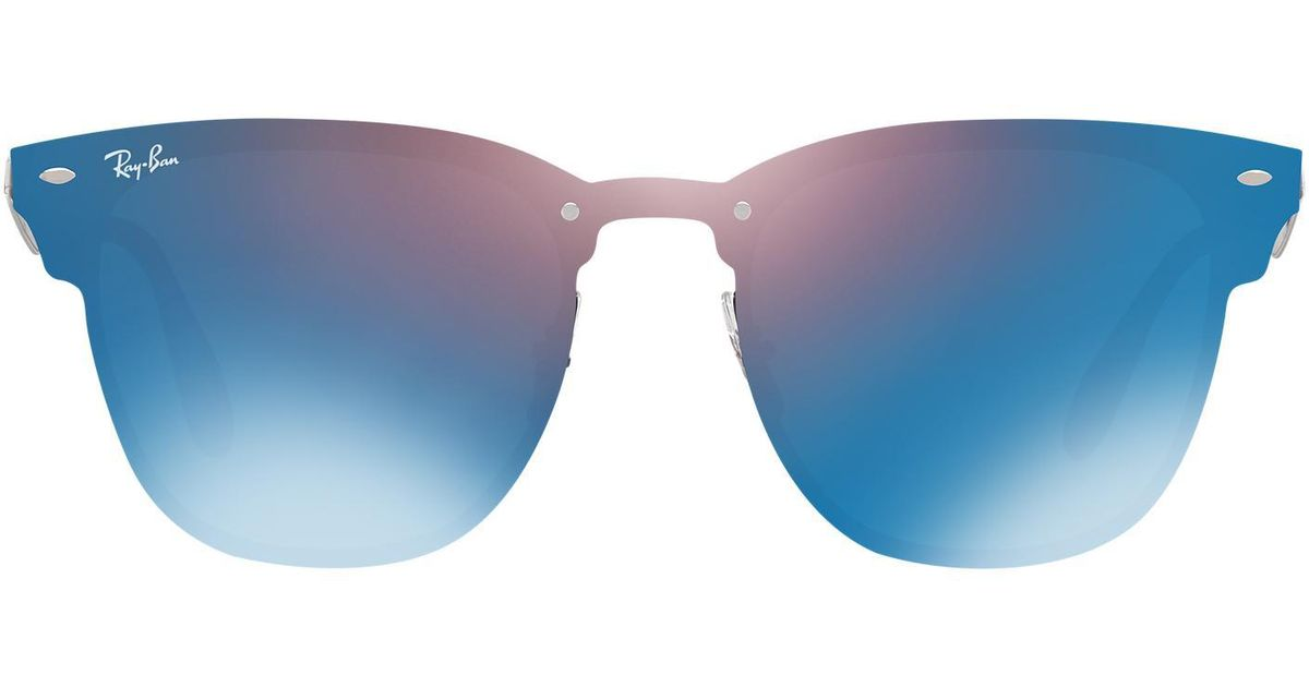 04965958d Ray-Ban Rb3576n Blaze Clubmaster Flat Lens for Men - Lyst