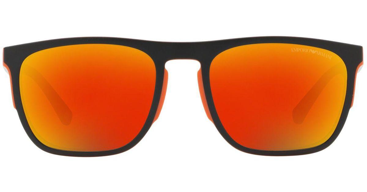 4103801b8e7b Lyst - Emporio Armani Ea4114 55 in Orange for Men