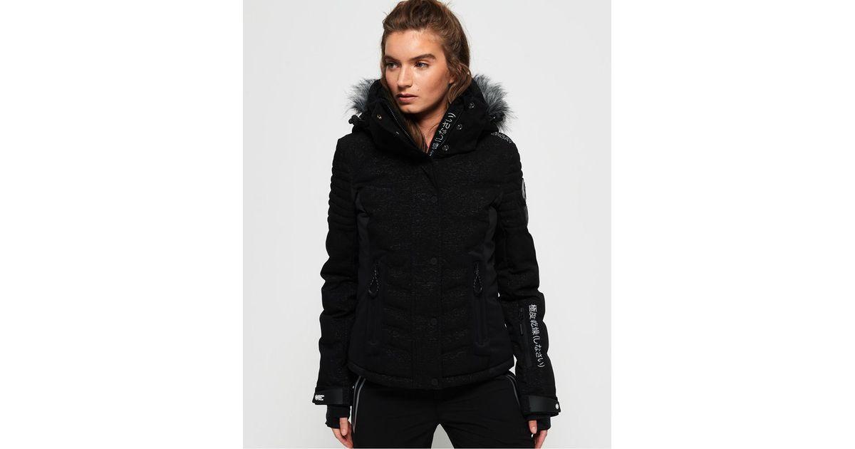 online retailer 65277 6e0d1 Superdry - Black Luxe Snow Puffer - Lyst