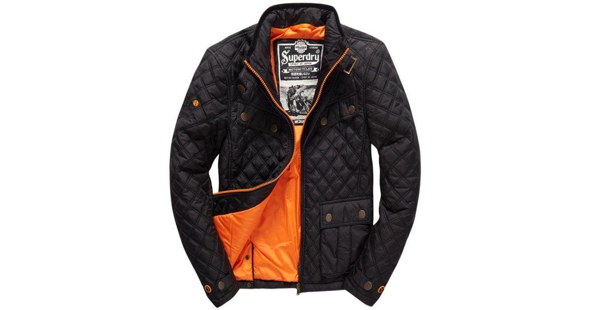 17a1e12ba118d6 Lyst - Superdry Apex Quilt Jacket in Black for Men