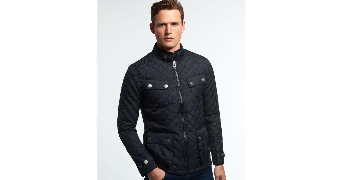af61f79d4a141f Superdry Apex Quilt Jacket in Black for Men - Lyst