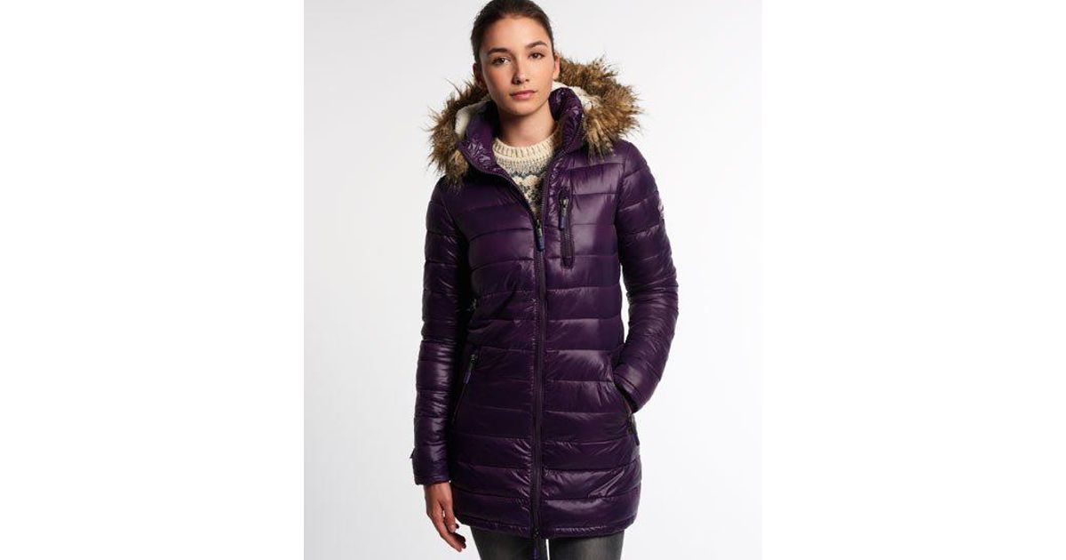 Fuji Happy In Superdry Demi Jacket Lyst Purple 0xSwFw5