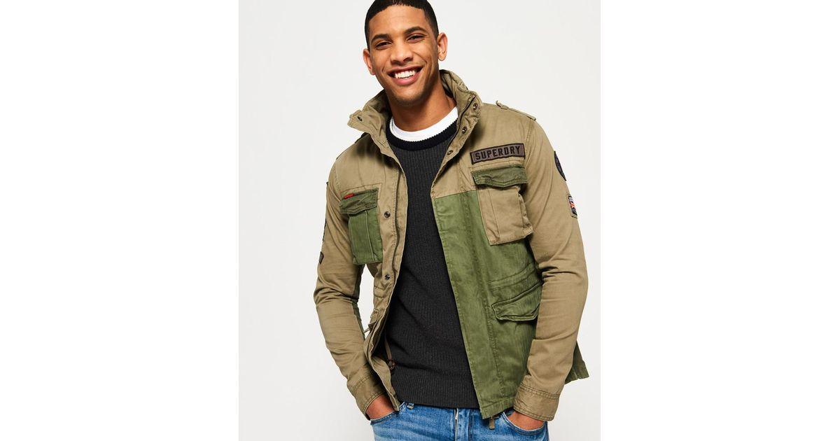 a7bb872479 Mixed Superdry Jacket Green Rookie Military Men In Lyst For B5BnPqx