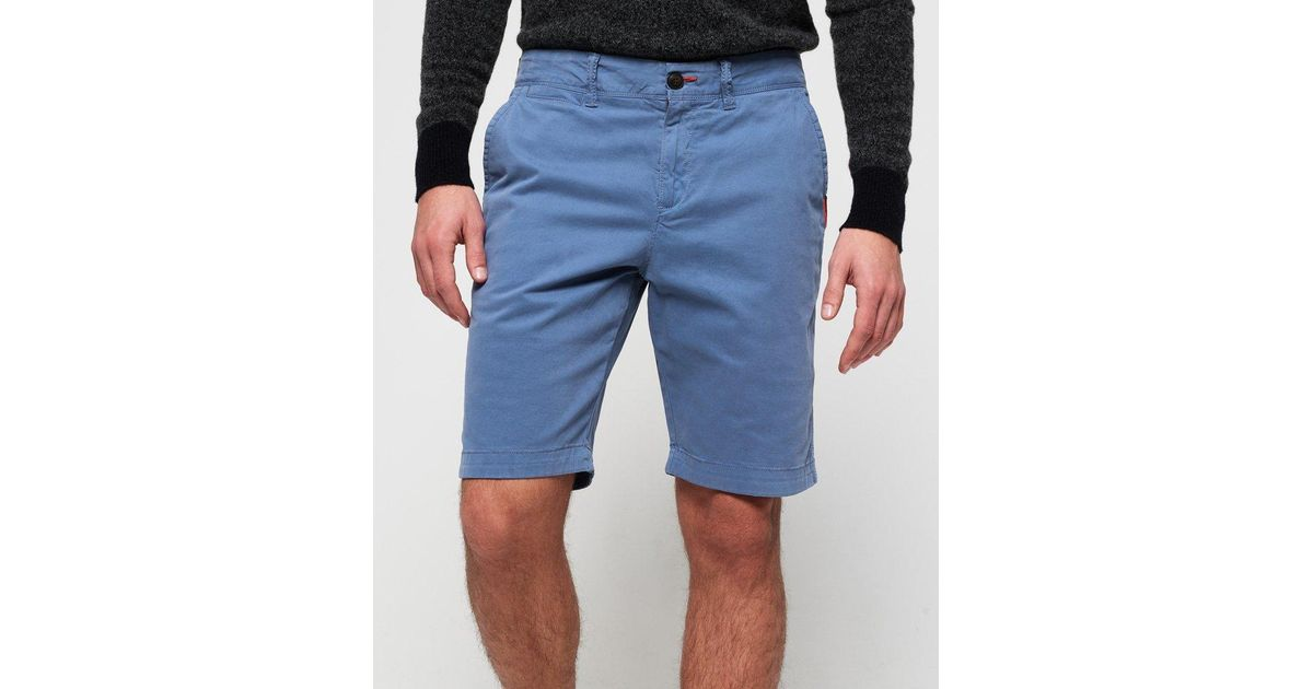 496bff1550 Lyst - Superdry International Lite Chino Shorts Blue in Blue for Men