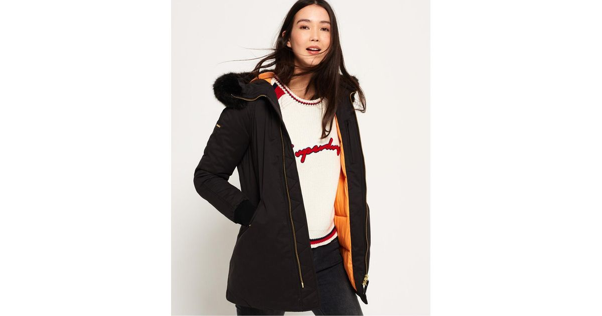 f9f2cc4ce84e Lyst - Superdry Roxton Cocoon Parka Jacket in Black
