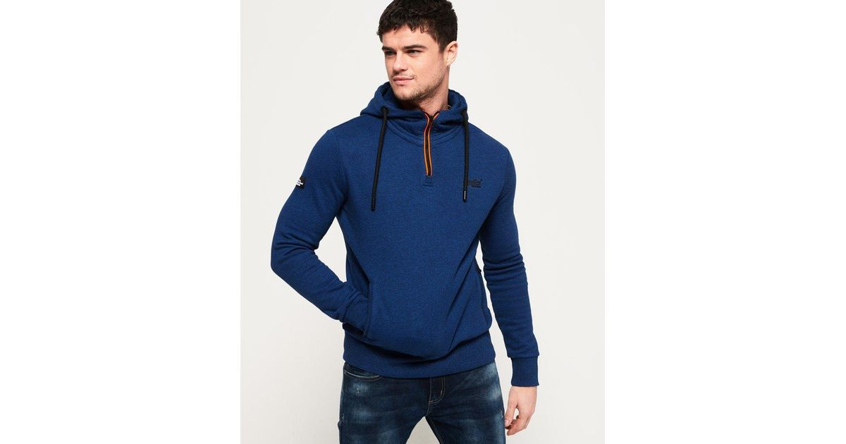 ce1f7d9ddc992f Superdry Orange Label Urban Flash Half Zip Hoodie in Blue for Men - Lyst
