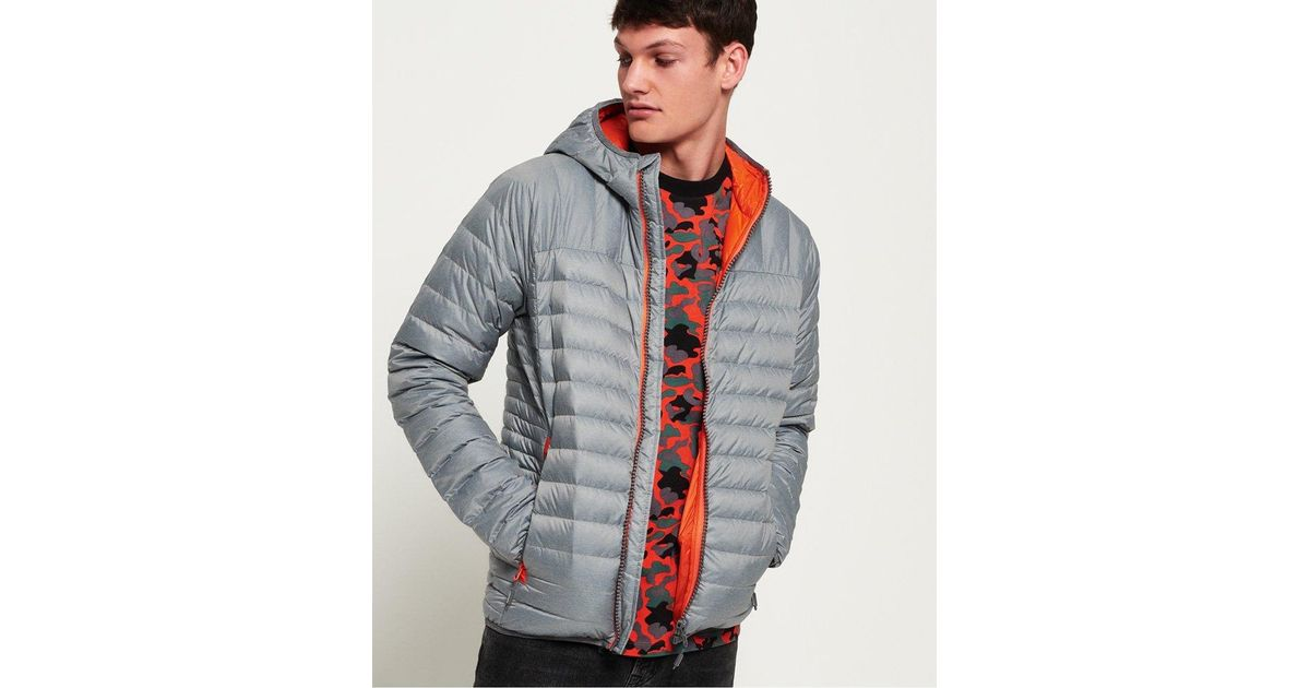 0051782792af Superdry Chromatic Core Down Jacket in Gray for Men - Lyst