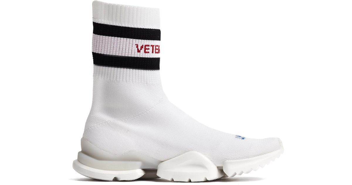 Vetements White Reebok Edition Sock Pump High-Top Sneakers sBBjb3FYlX