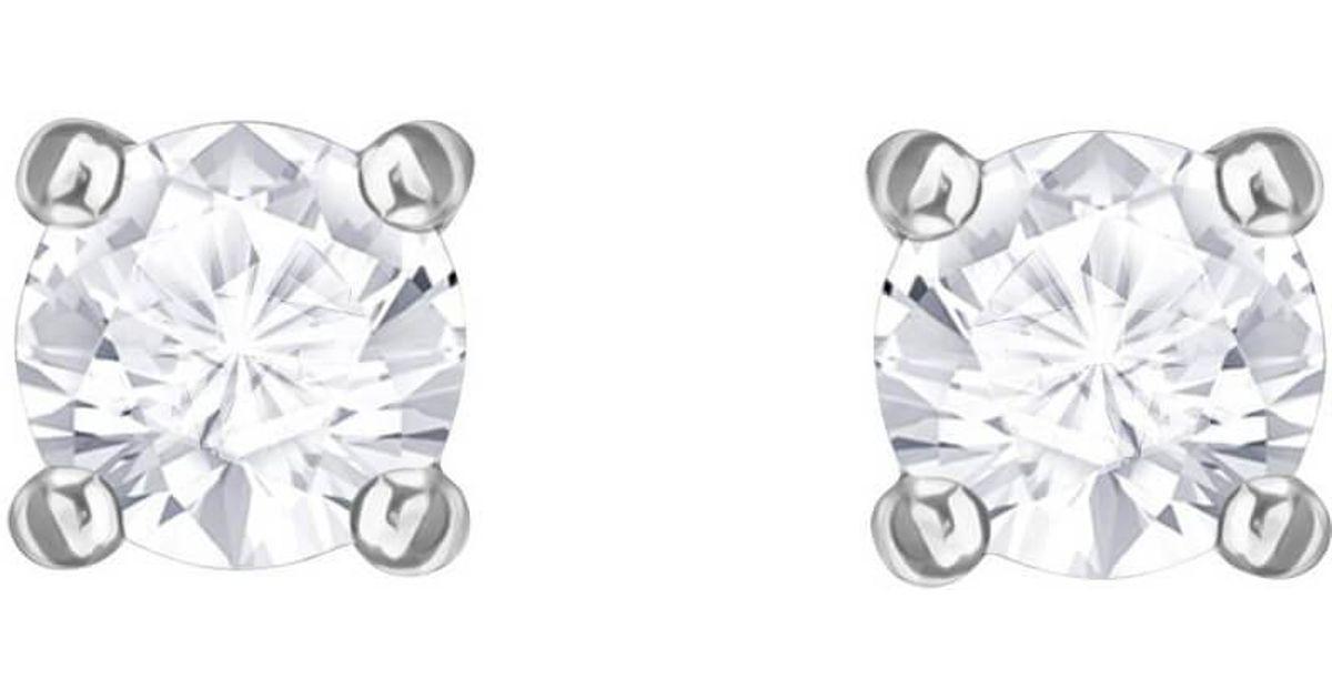 6db85d1ce Lyst - Swarovski Attract Round Pierced Earrings