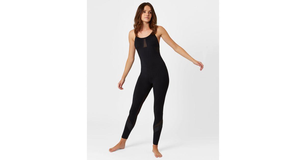 a1db12dd272 Lyst - Sweaty Betty Makarasana Jumpsuit in Black