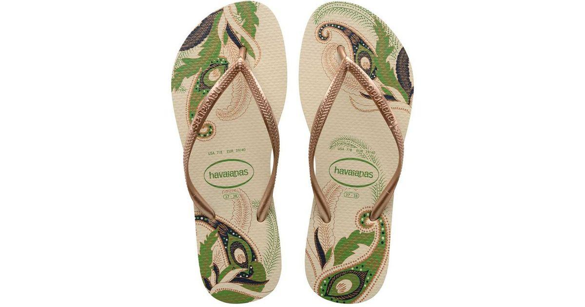 6068817cf Lyst - Havaianas Slim Organic Sandal in Natural