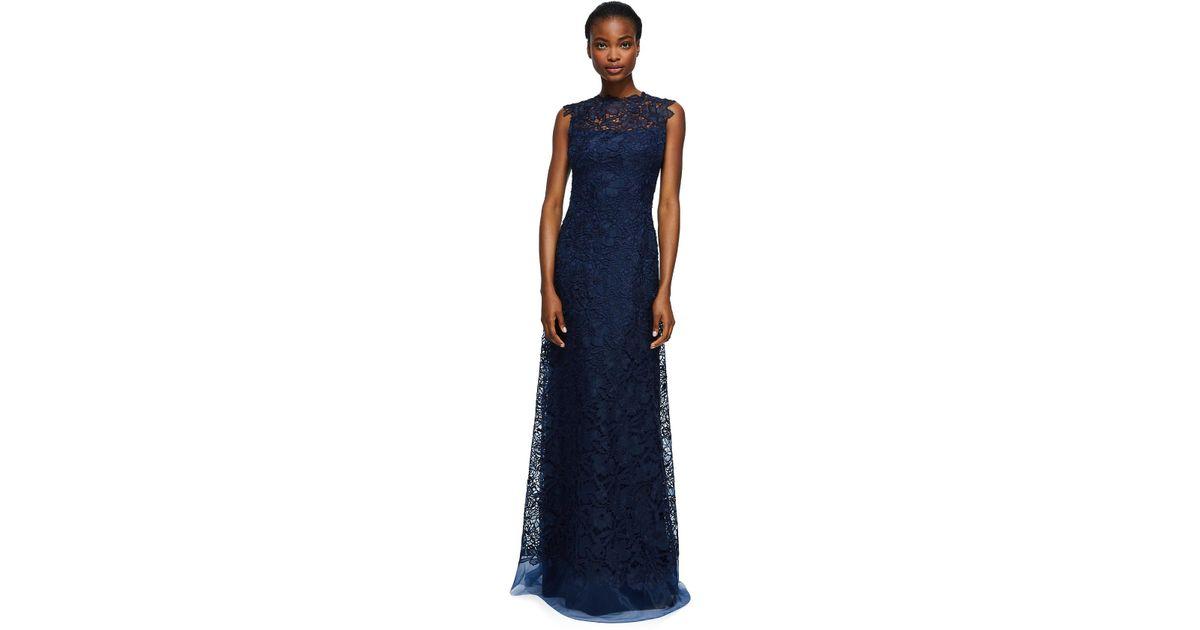 Lyst - Tadashi shoji Milien Evening Gown - Petite in Blue