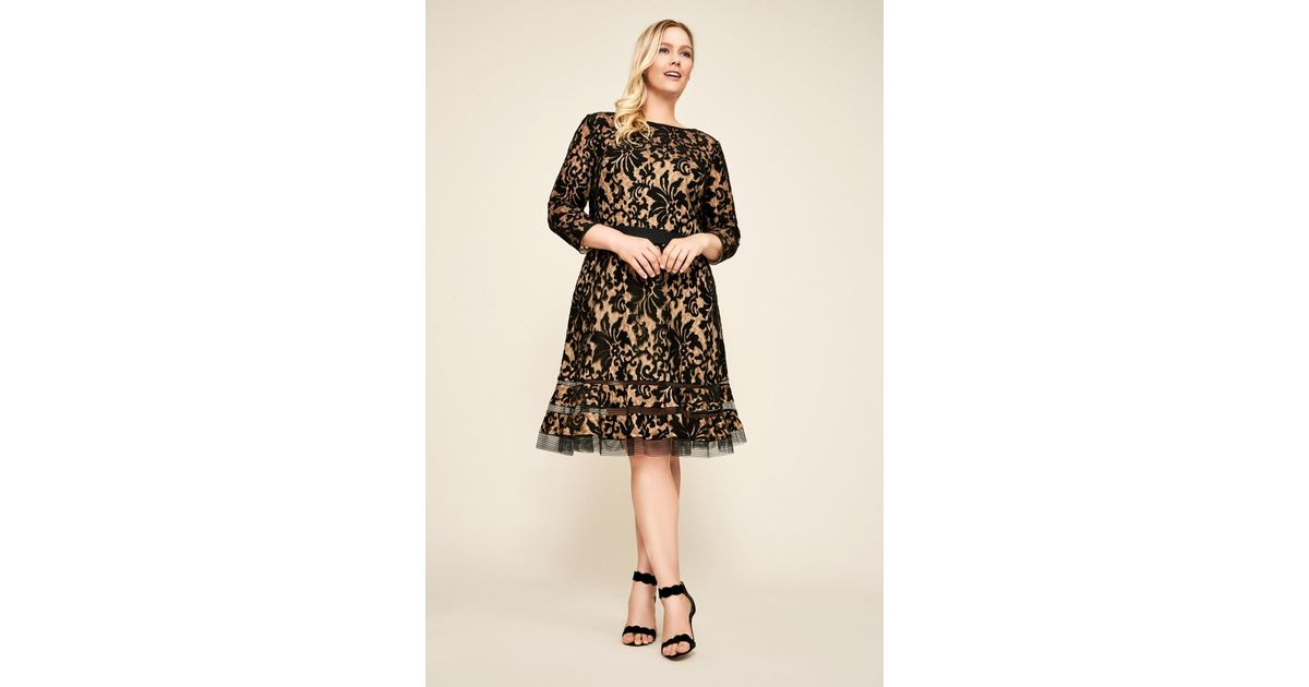 Lyst Tadashi Shoji Kennedy Embroidered Lace Dress Plus Size In Black