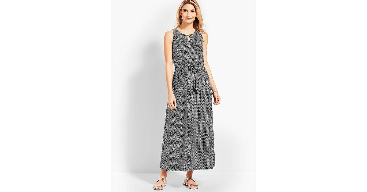 e1e2948db7b Lyst - Talbots Avalon Tiles Casual Jersey Maxi Dress in Gray