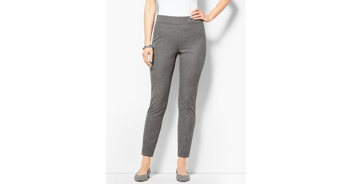 08dc1072f37 Talbots Bi-stretch Pull-on Ankle Pants- Melange in Gray - Save  9.615384615384613% - Lyst