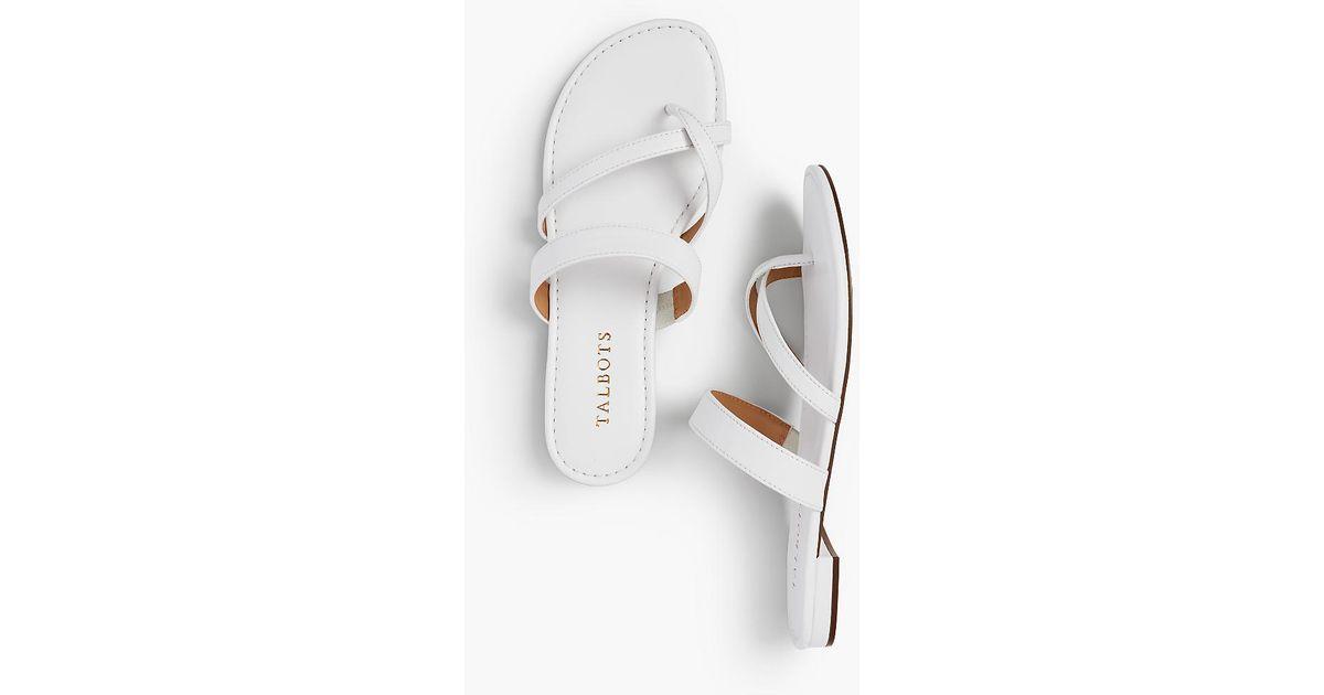 8f5e06428f5 Talbots - White Gia Toe-ring Sandals - Soft Nappa - Lyst