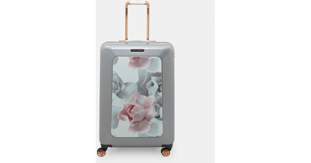 b4d2d0c61c14 Ted Baker Porcelain Rose Medium Suitcase in Gray - Lyst