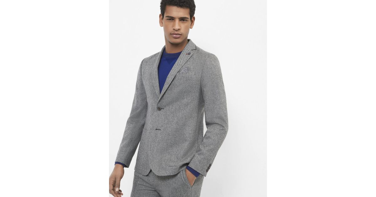11ab333f9 Ted Baker Herringbone Wool Jacket in Gray for Men - Lyst