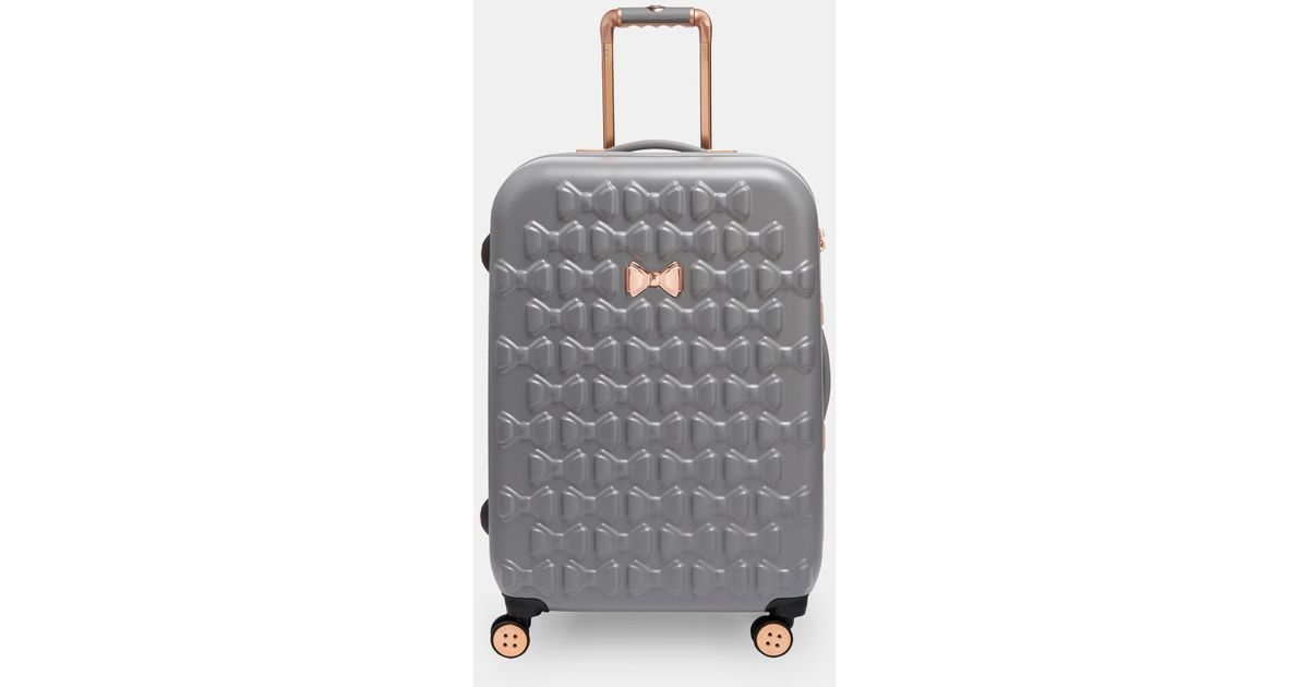 fa3ea6b690 Ted Baker Bow Detail Large Suitcase in Gray - Save 25% - Lyst
