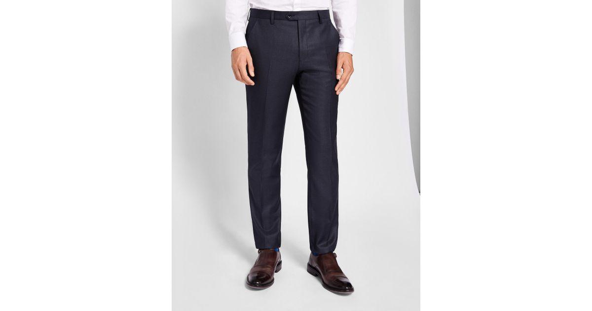 88998a228c578 Ted Baker Debonair Wool Trousers in Blue for Men - Lyst
