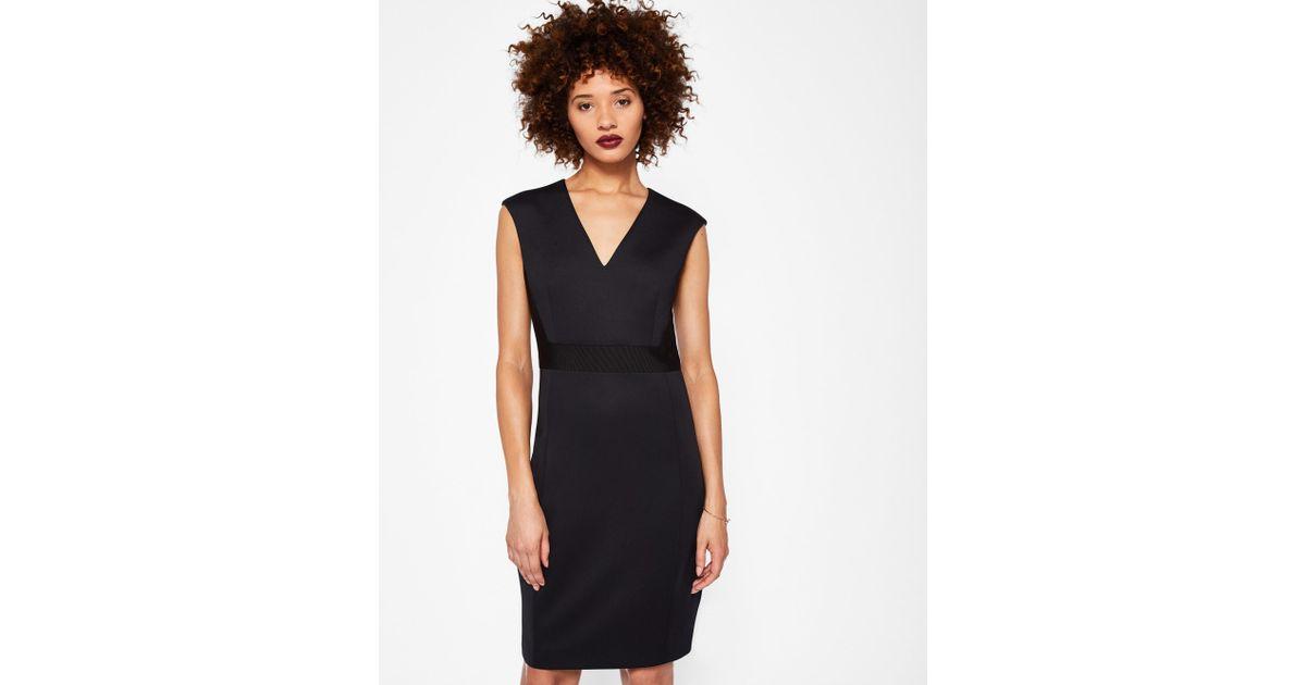 54a77dbfdb90f3 ... Ted Baker Ottoman Contrast Dress in Black - Lyst better 31f93 7224f ...