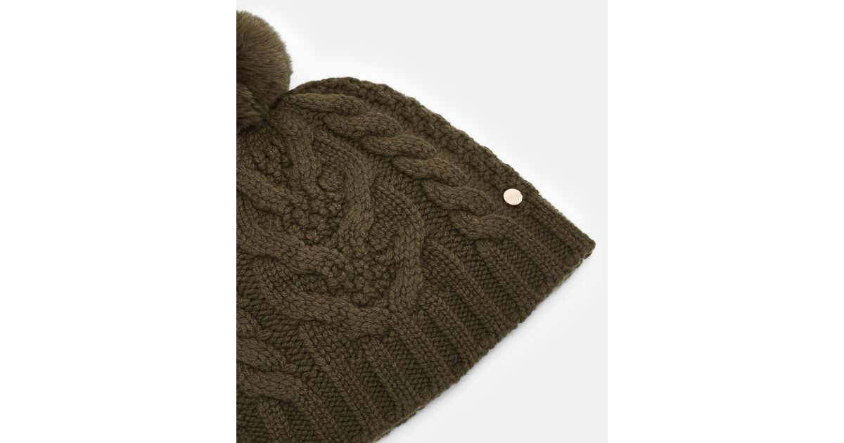 ca2e7e6be96a3 Lyst - Ted Baker Cable Knit Beanie - in Green