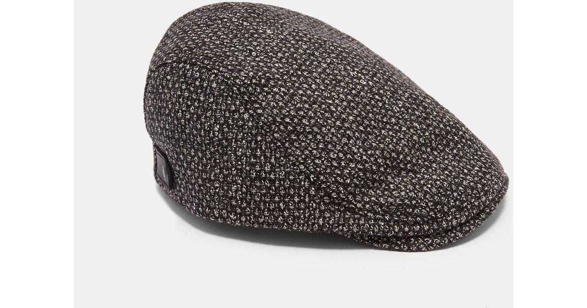 Ted Baker Flat Cap in Gray for Men - Lyst 867687e771b5