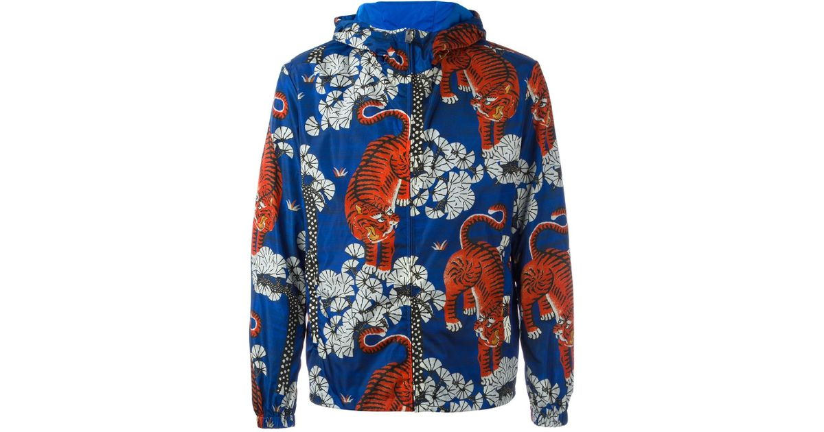 ccc3e153847 Lyst - Gucci Bengal Tiger Print Jacket in Blue for Men