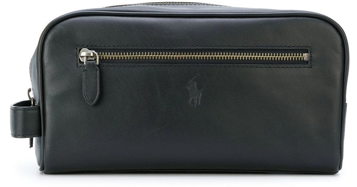 e5a403ab4a Lyst - Polo Ralph Lauren Leather Beauty-case in Black