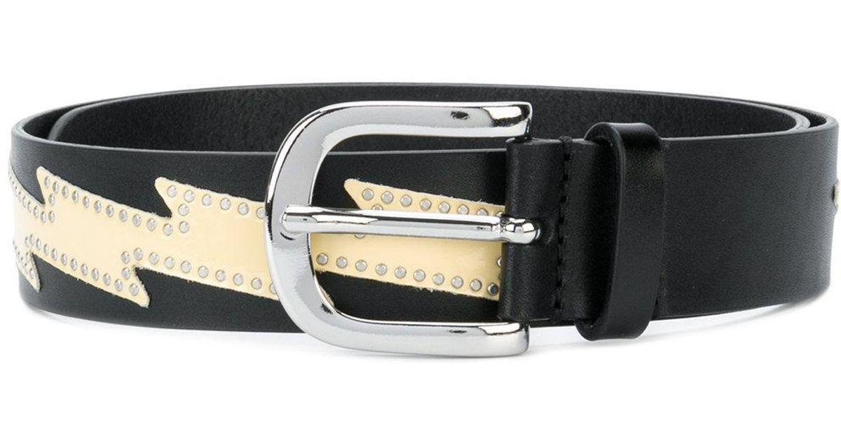 1cd8b7250d8d Étoile Isabel Marant Zvenya Leather Belt in Yellow - Lyst