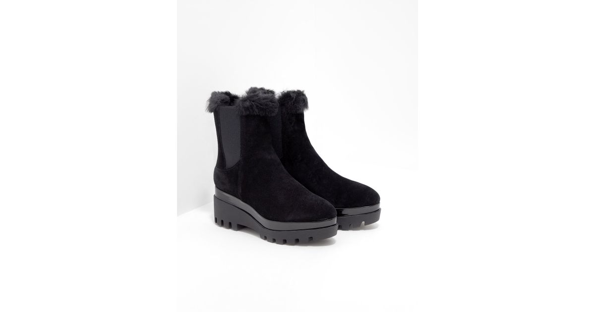 b24eae5a778 DKNY - Black Bax Wedge Boots