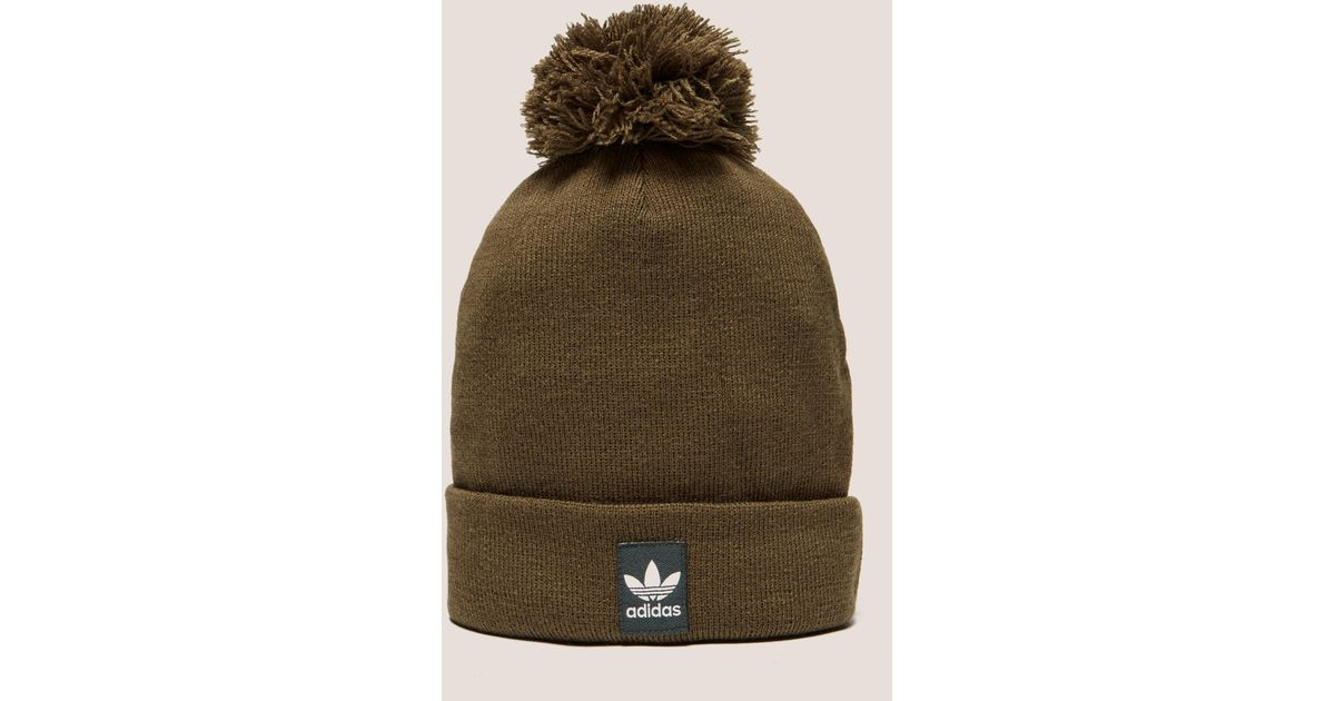 f902a04f adidas Originals Mens Logo Bobble Hat Brown in Brown for Men - Lyst