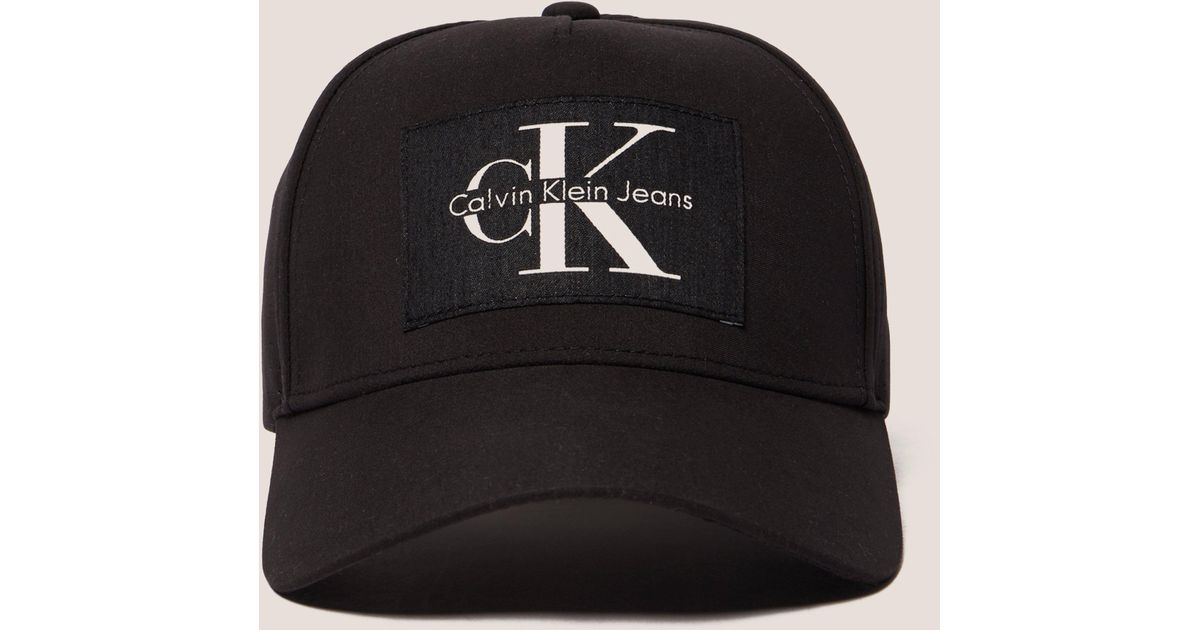 e0779e2a Calvin Klein Reissue Cap in Black for Men - Lyst