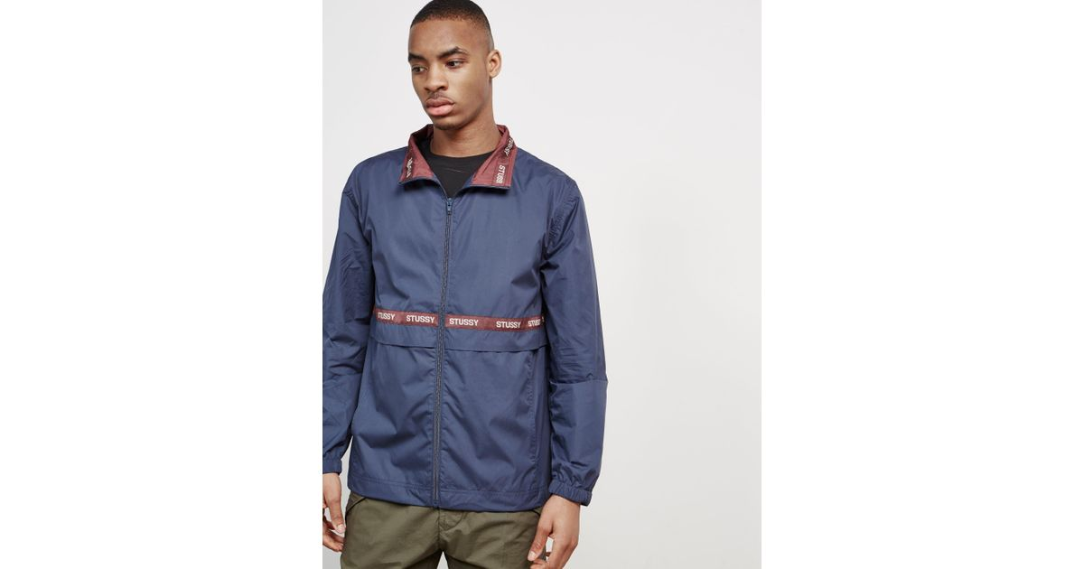 Stussy Lewis Tape Track Top - Online Exclusive Navy Blue in Blue for Men -  Save 76% - Lyst b91355bf4