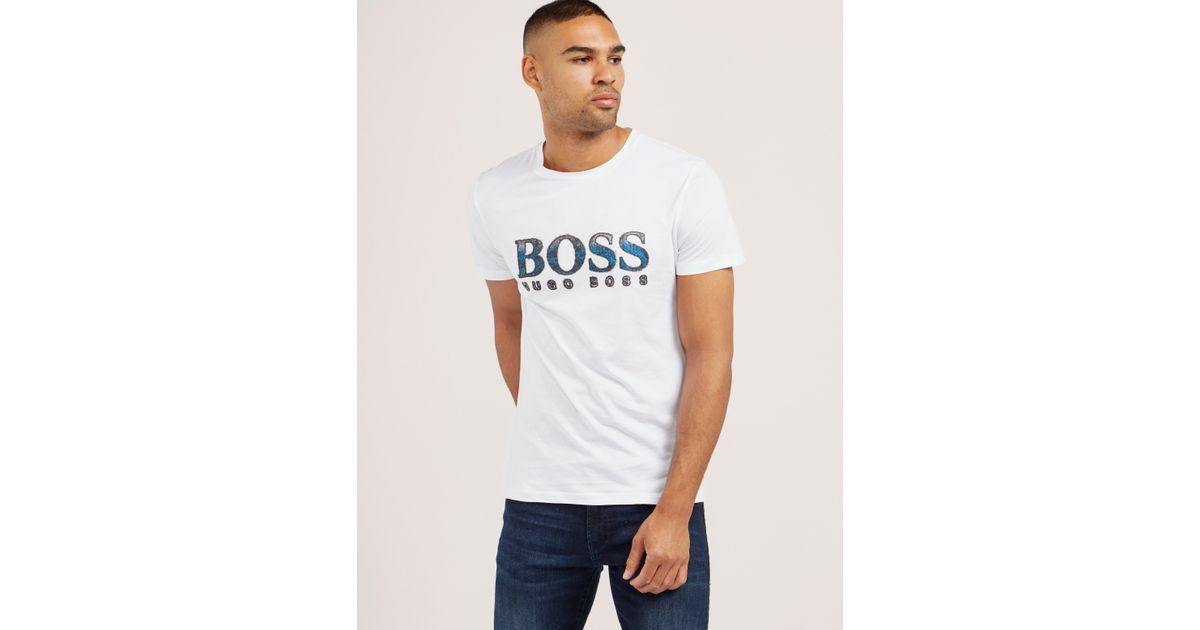 7622c99f36dc Lyst - Boss Mens Orange Turbulence Short Sleeve T-shirt White in White for  Men