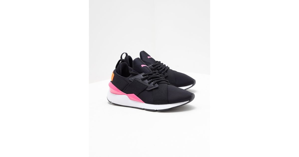5ca4df4d438 PUMA Womens Muse Chase Trainers Black in Black - Lyst