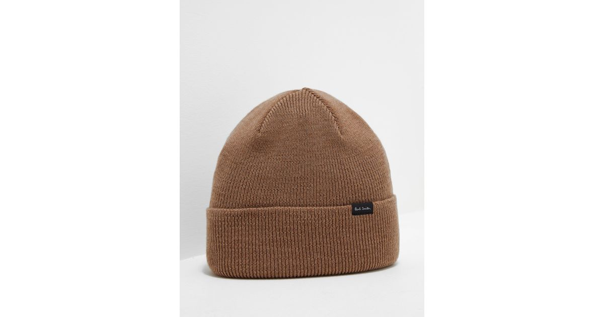 77393b5989f2a Lyst - PS by Paul Smith Mens Turn Up Beanie Tan tan in Brown for Men
