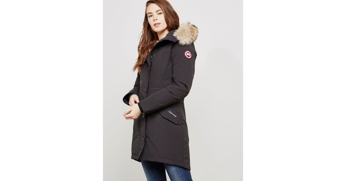 Lyst - Canada Goose Rossclair Padded Parka Jacket Black in Black - Save 4% b58c0a025d