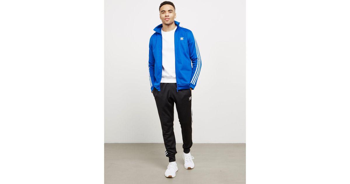 Lyst adidas originali Uomo becker piena zip track top blu in blu