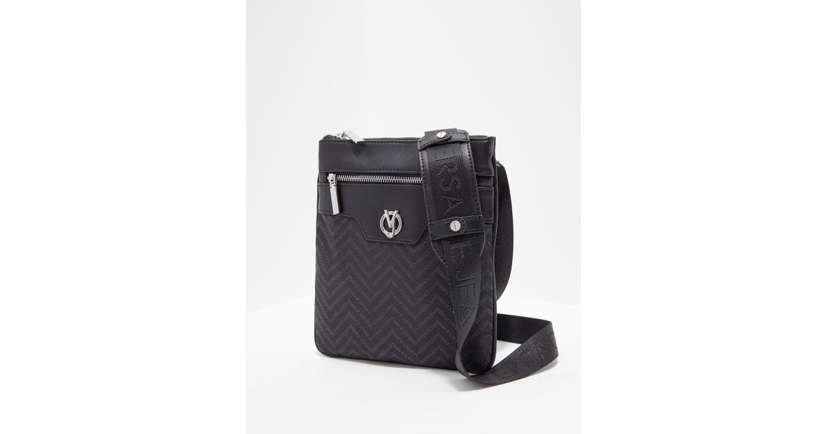 6369448fe793 Lyst - Versace Jeans Mens Linea Chevron Small Item Bag Black in Black for  Men